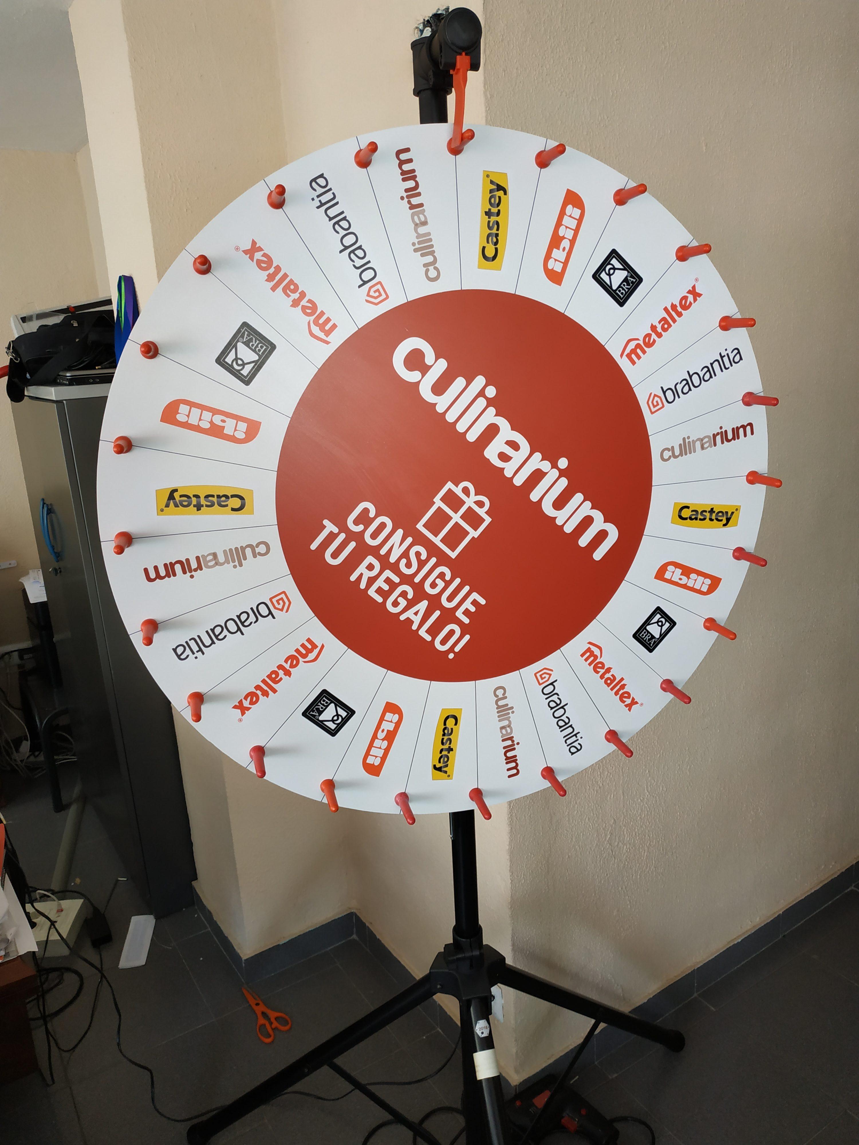 Ruleta personalizable para promociones, sorteos, concursos, etc